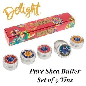 L'Occitane Pure Shea Butter Set of 5 Tins